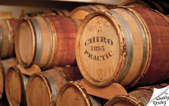 Chiropractic wine barrell